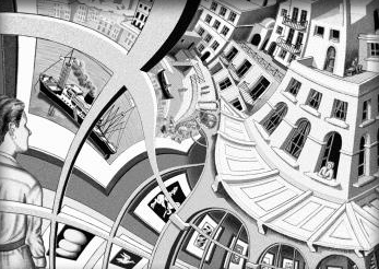 Keith Olbermann Says He Broadcasts From The M C Escher Complex In