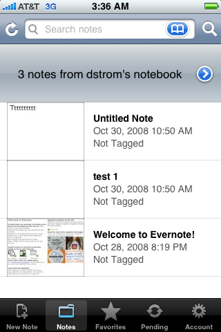 Evernote-Browsing