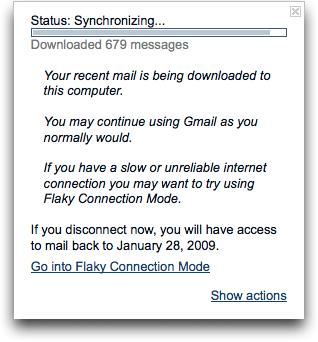Gmail-synchronization