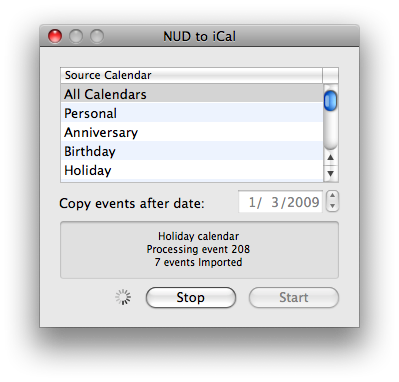 NUD-to-iCal