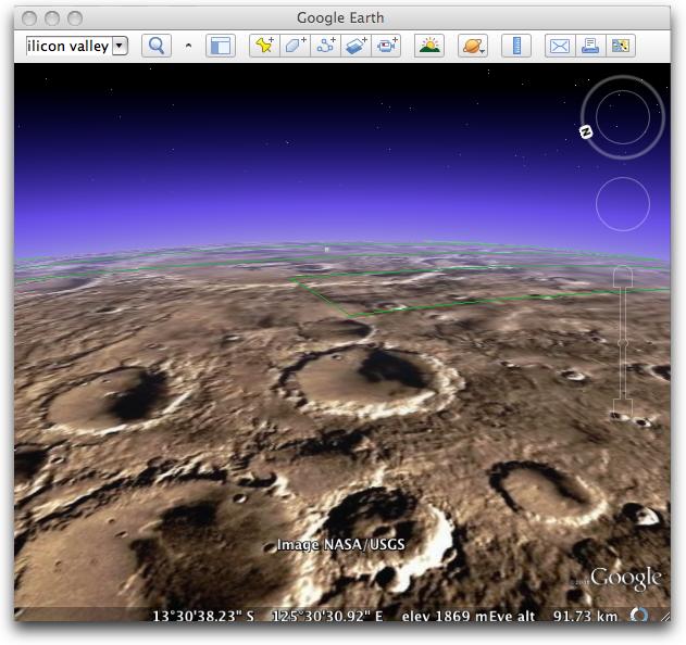 ���� ����� ���� �������� ������ Google-Earth-Mars.png