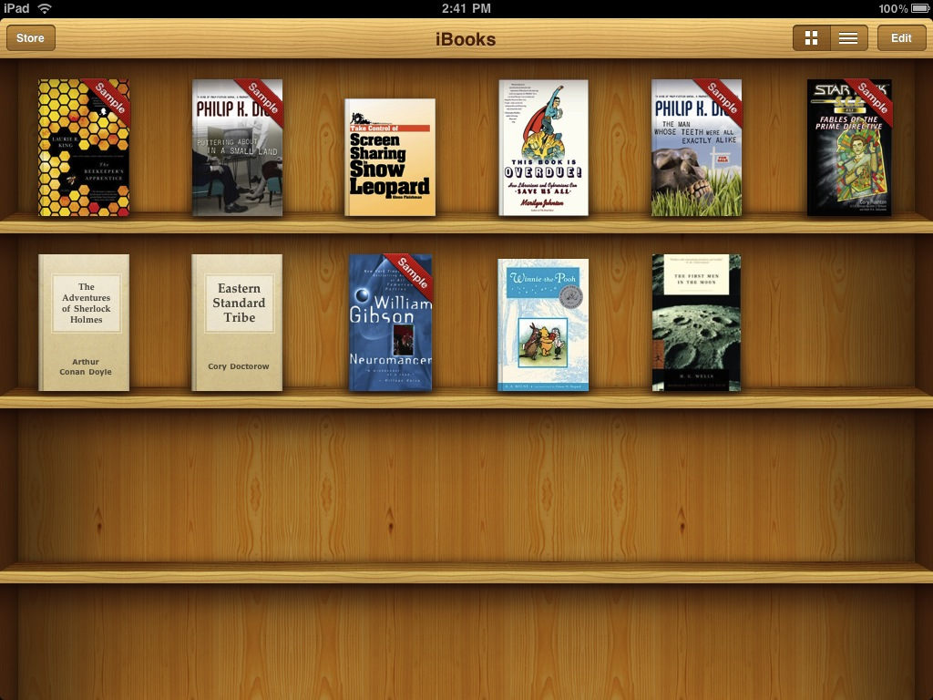 what's the layout for kindle books