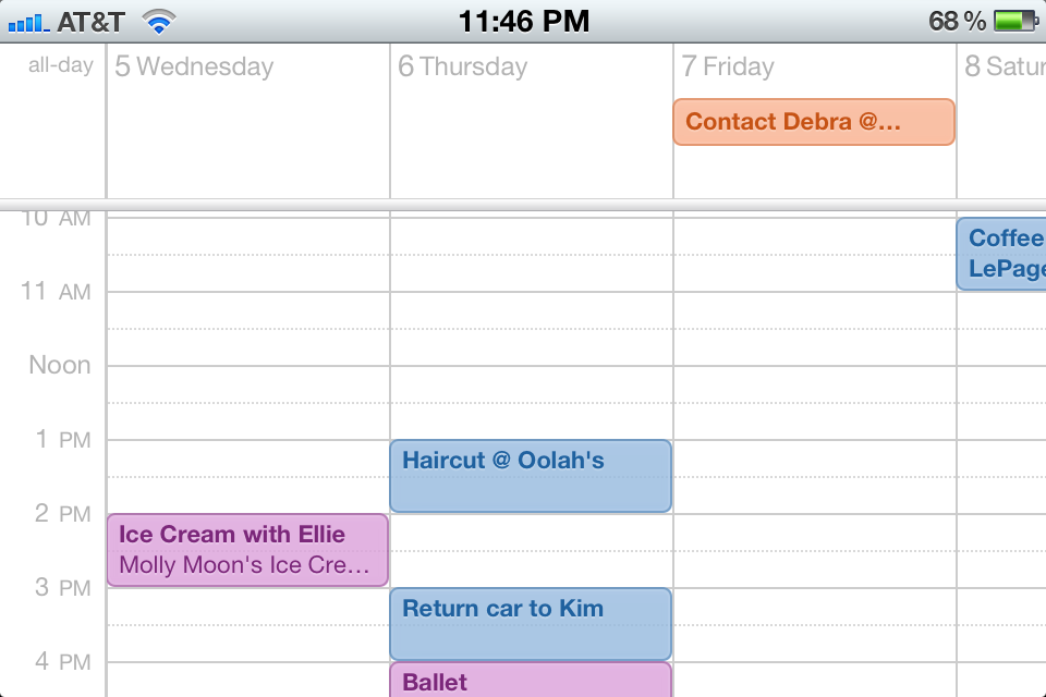 Weekly Calendar View For Iphone Scrollable : Secrets of ios the poulson reports