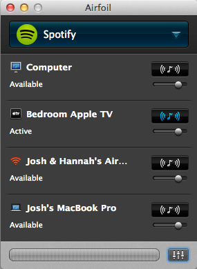 Figure 26: Airfoil can stream audio from any app via AirPlay — even to multiple receivers.