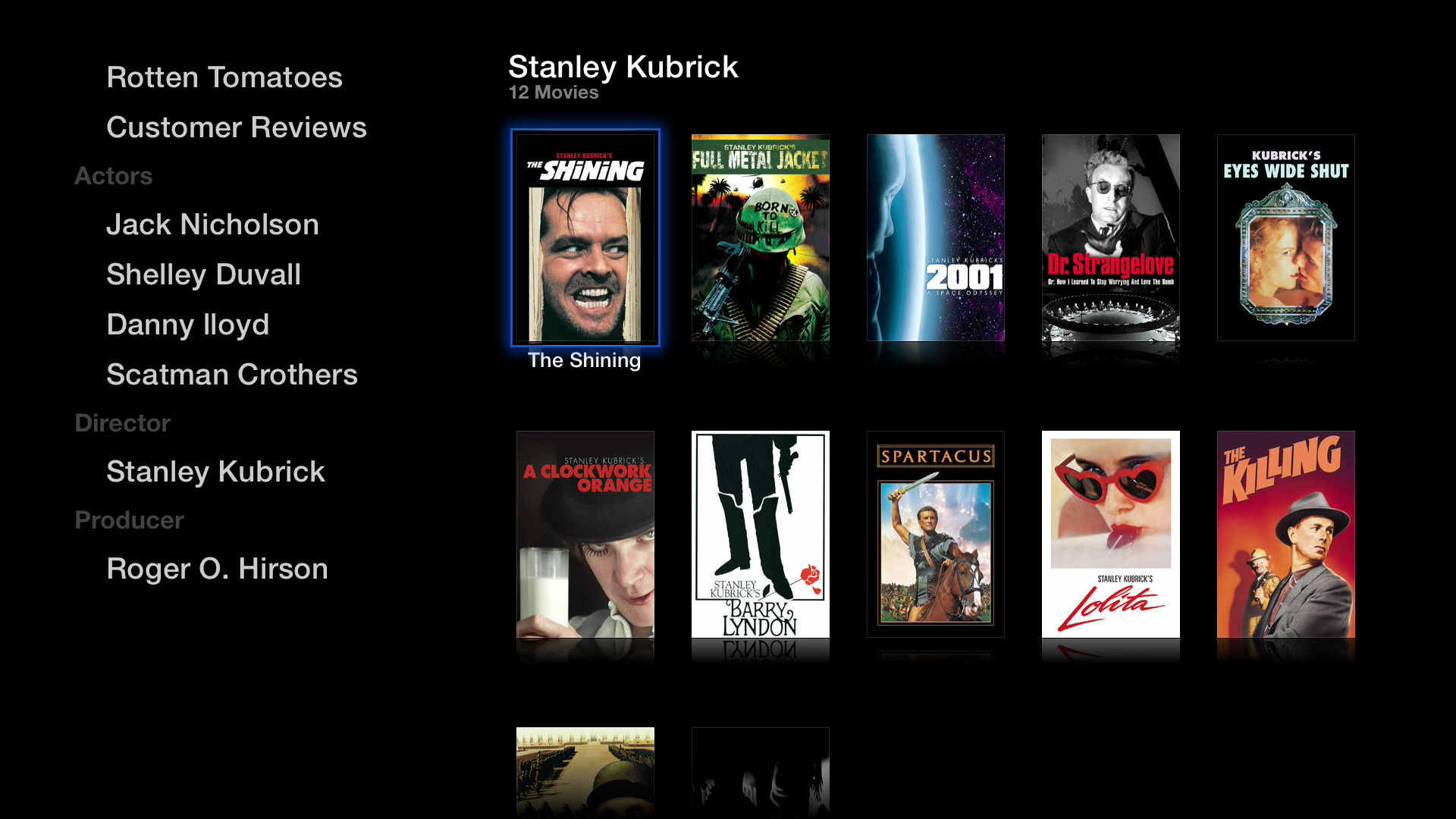 Figure 8: Select More in a movie's listing to see reviews and find more titles by the principles.