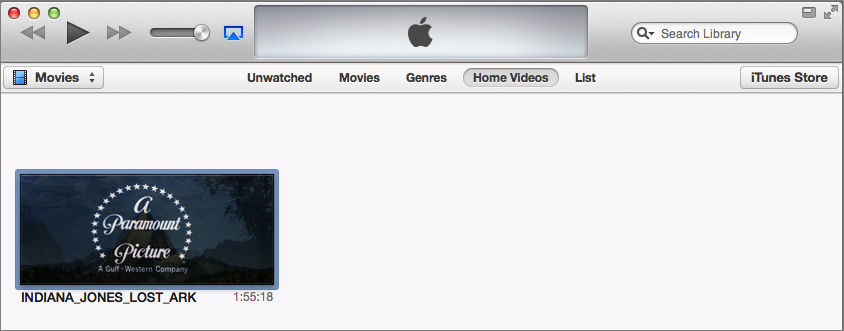 Figure 12: When you drop a ripped movie into iTunes, it may not go where you would expect.