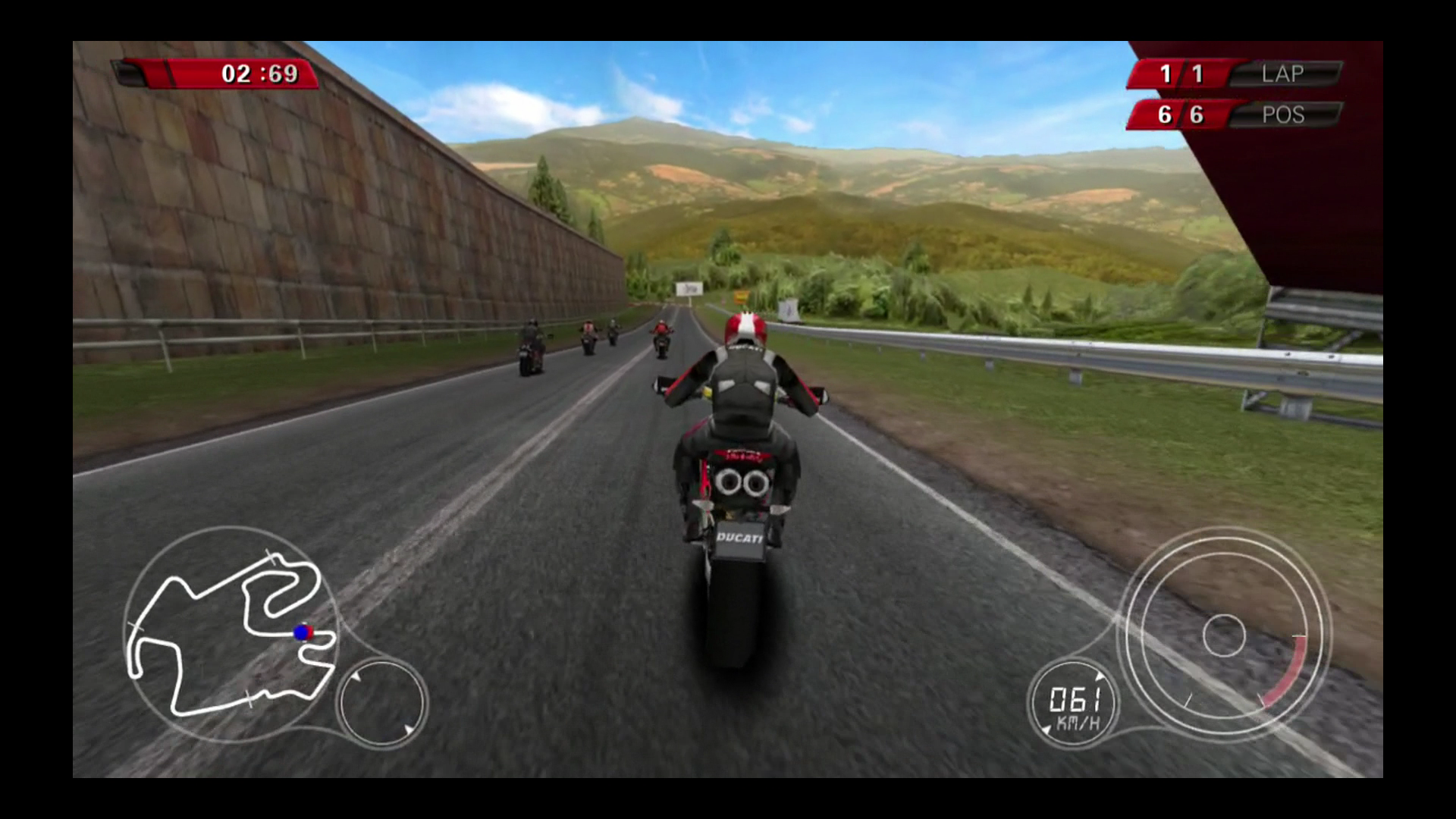 Figure 3: In the Ducati Challenge motorcycle racing game, you steer the action with your iOS device.
