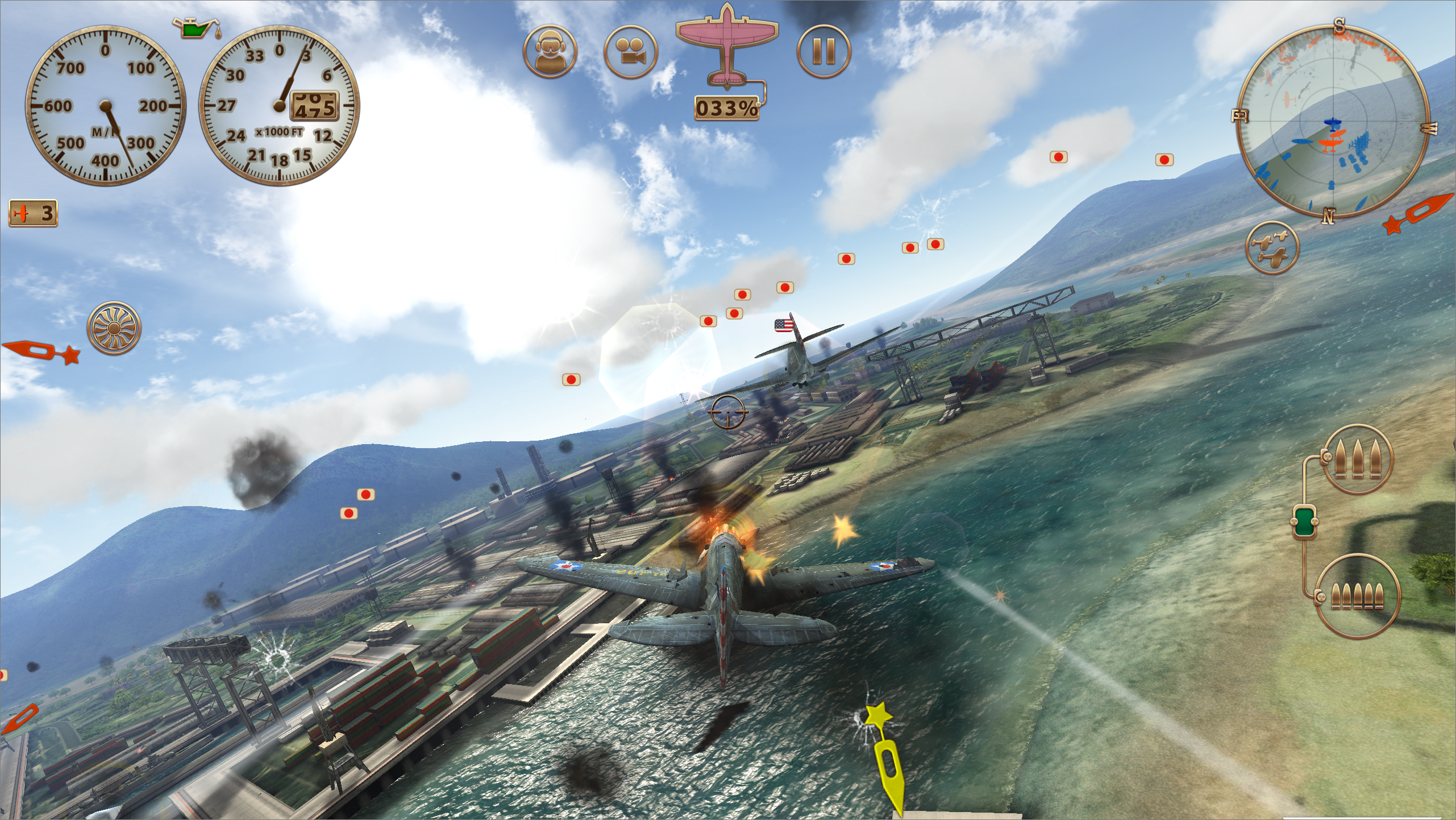 Figure 9: Sky Gamblers: Storm Raiders is one of the best-looking games for iOS and a great party game.