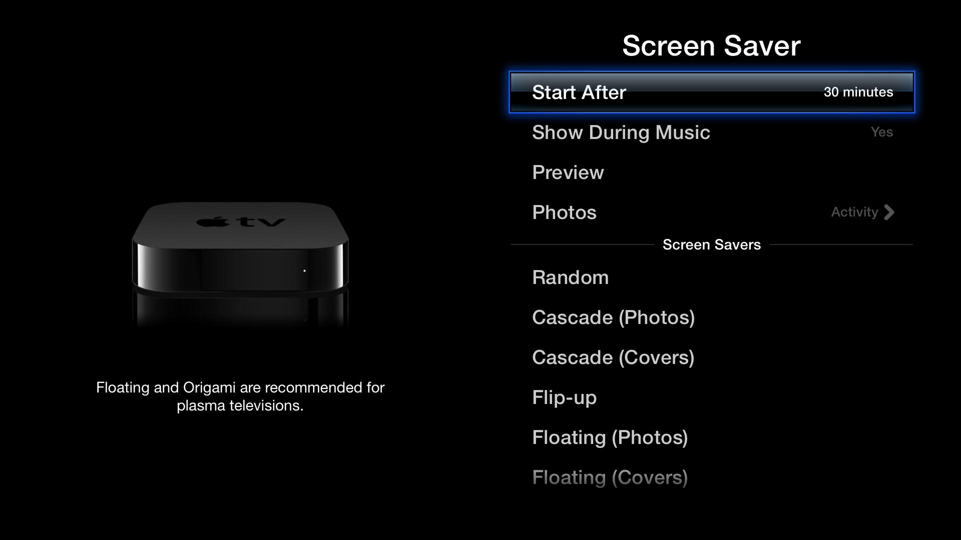 Figure 7: Look for screen saver options in Settings ></span><span id=