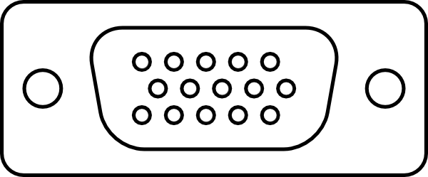 Figure 1: The older, more common VGA connector has 15 pins, arranged in a trapezoid.