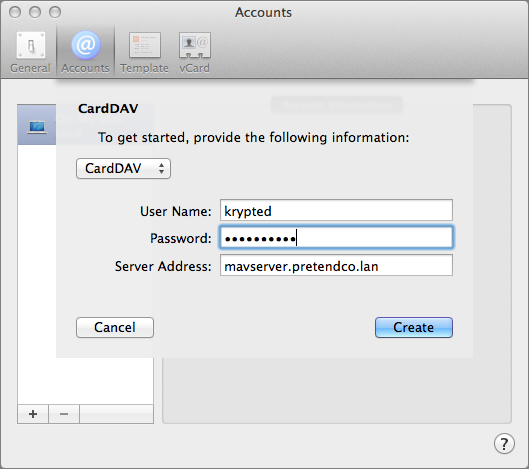 Figure 3: To make the connection, you need to authenticate as a user on OS X Server and give the server's name.