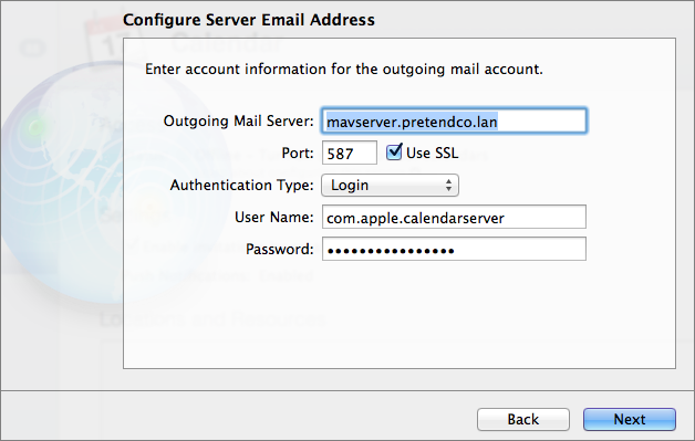 Figure 9: Enter the necessary settings for the SMTP server that will be used to send outgoing invitations.
