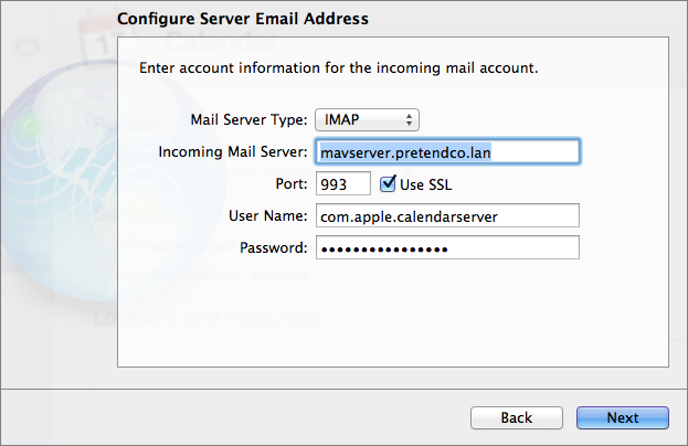 Figure 8: Configure the necessary settings for the incoming mail account.