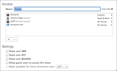 _Figure 3: You can disable a folder's sharing capability by unchecking all of its Settings checkboxes._