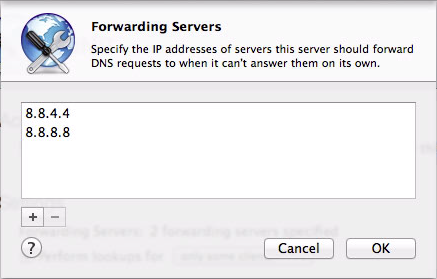 Figure 8: Enter the IP addresses of your name servers.