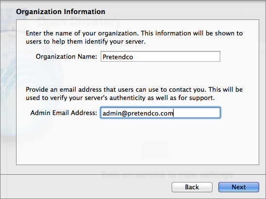 Figure 4: Create the Open Directory certificate.