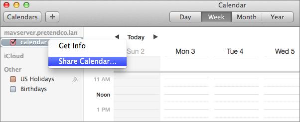 Figure 13: Share your newly created calendar.