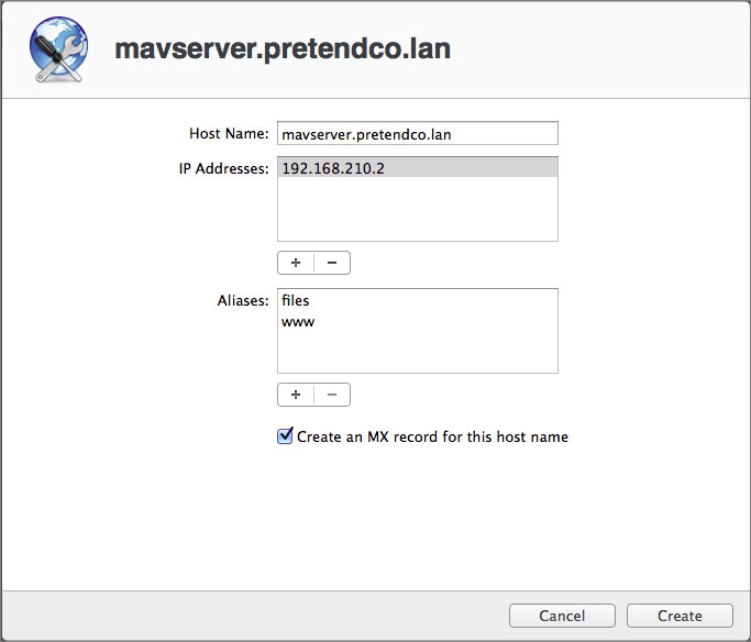 _Figure 3: You can create alias and mail exchanger records right from within the machine record screen, as long as Show All Records is not selected._