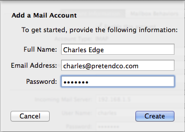 Figure 10: Enter your name, email address, and password.