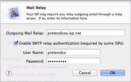 Figure 7: Configure your outgoing mail relay if necessary.