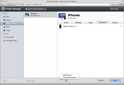_Figure 15: To manage multiple devices at a time, add them to a device group._
