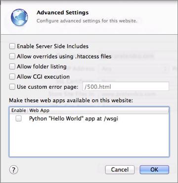 Figure 11: Access more settings in the Advanced Settings dialog.