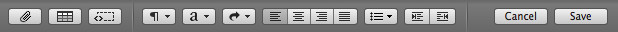 Figure 11: Format your wiki pages with the editing toolbar buttons.