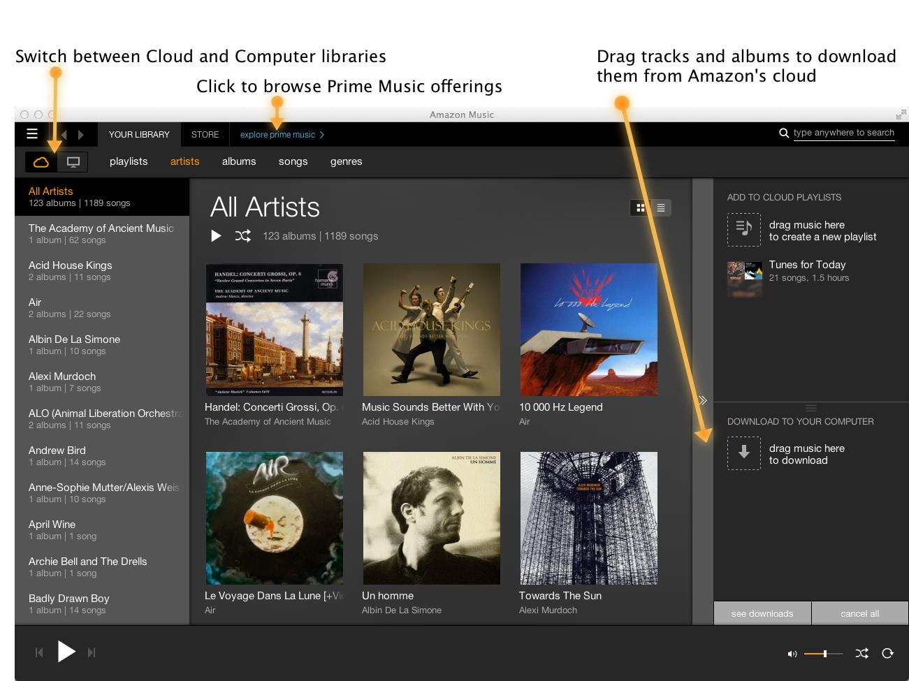 Group of Mac Desktop Music