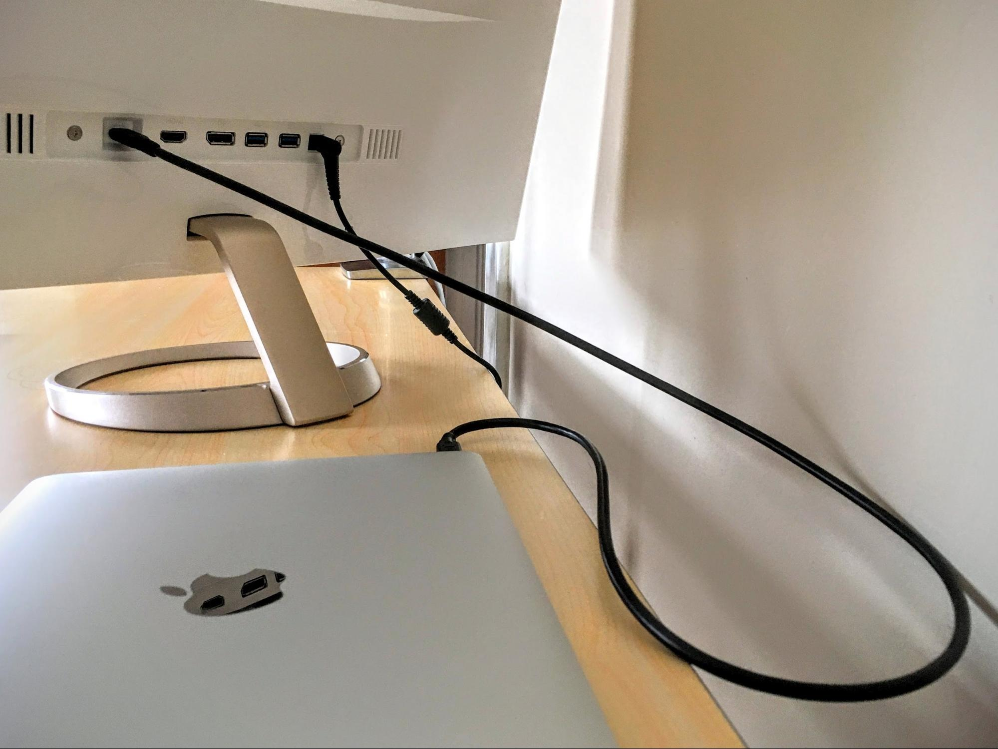 once connected the macbook gets power via the displays ac adapter the screen also acts as a usb hub providing a couple of usb 30 ports with usb a acer friends wooden classic