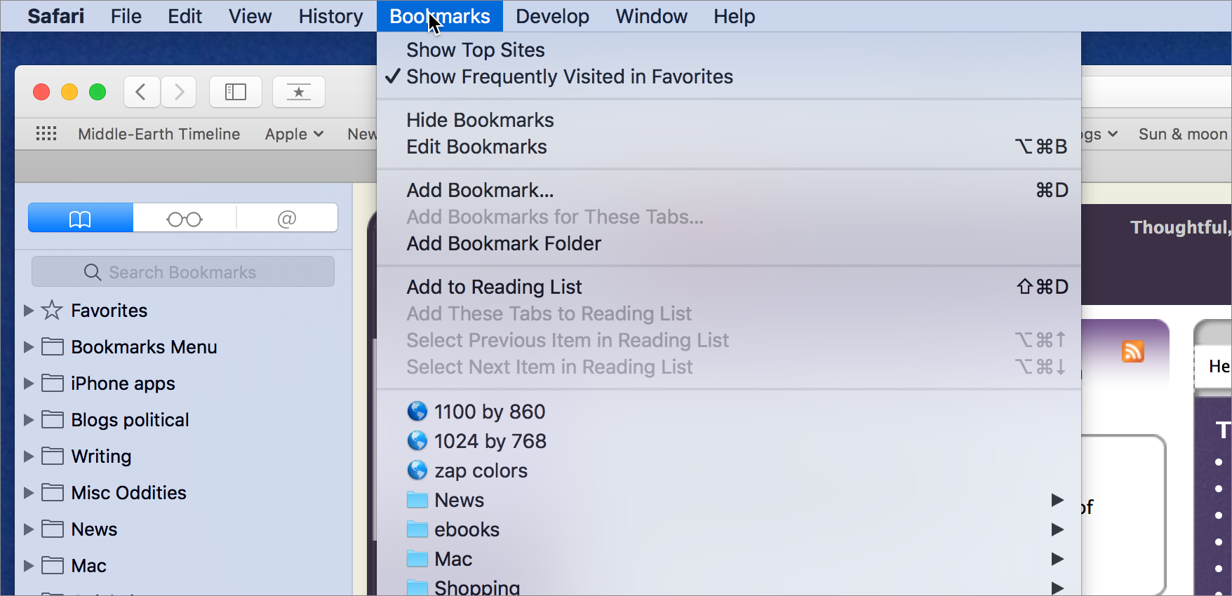 There Are Several Ways To Add Bookmarks In Safari The Most Traditional Is  By Choosing Bookmarks > Add Bookmark (commandd), Which Presents A Dialog  With