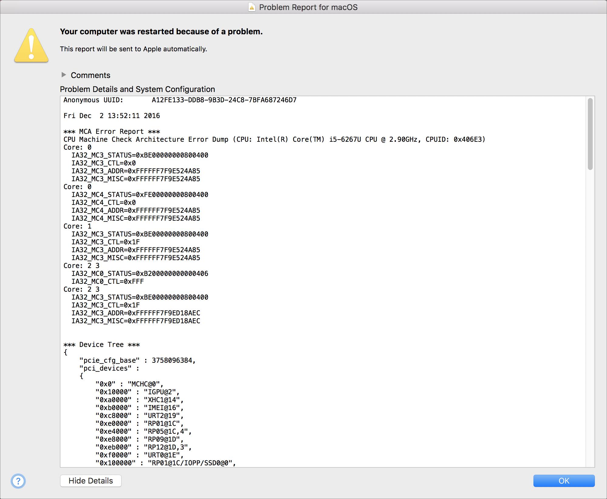 Fixes Time Machine Backup Crashing Issue on New MacBook Pro