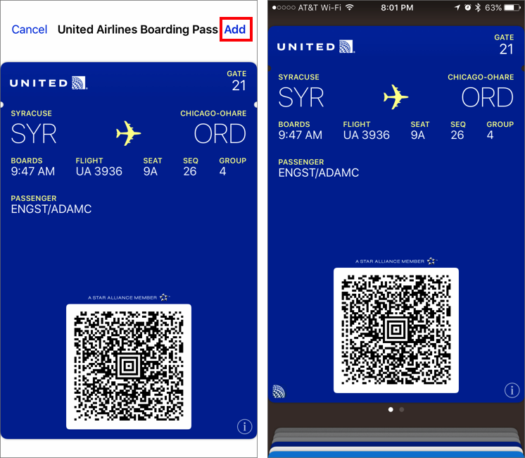 How To Set Up And Use Airline Boarding Passes In Wallet