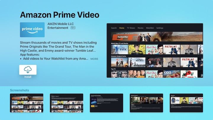 Amazon Prime Video is finally available for Apple TV