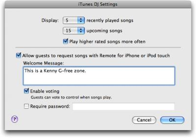 iTunes-DJ-settings