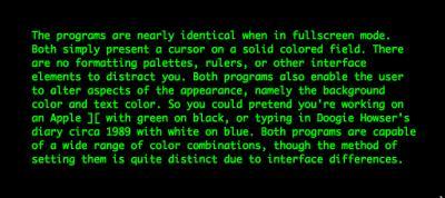 green-on-black