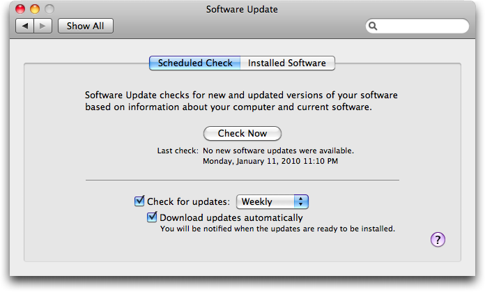 how to schedule software update downloads tidbits