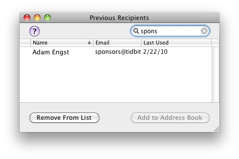 Prevent Apple Mail from Auto-Completing the Wrong Address - TidBITS