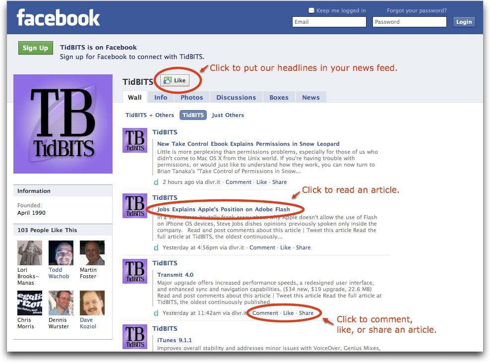 TidBITS Now on Facebook Thanks to dlvr it - TidBITS