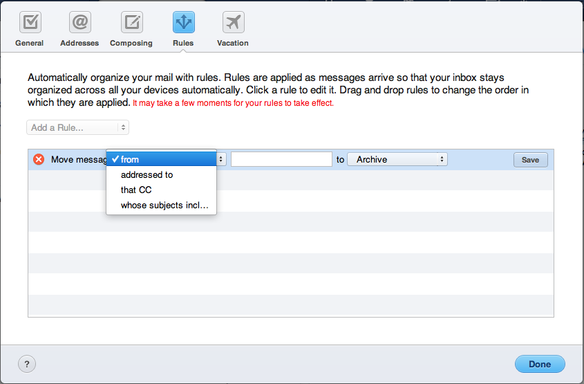 MobileMe Mail Adds Server-side Rules, SSL, and More - TidBITS
