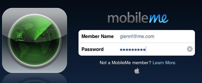 Mobile me login