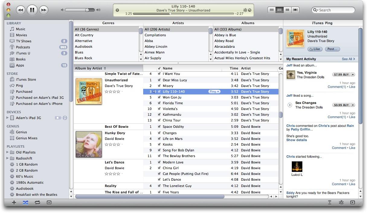 iTunes 10 0 1 Integrates Ping - TidBITS