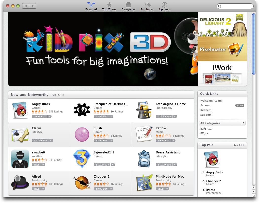 app store pour mac os x 10.4.11