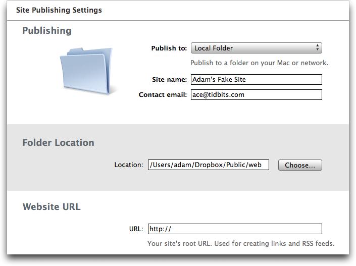 Alternatives to MobileMe for iWeb Sites - TidBITS