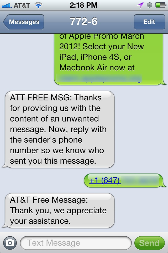 automatic text messages