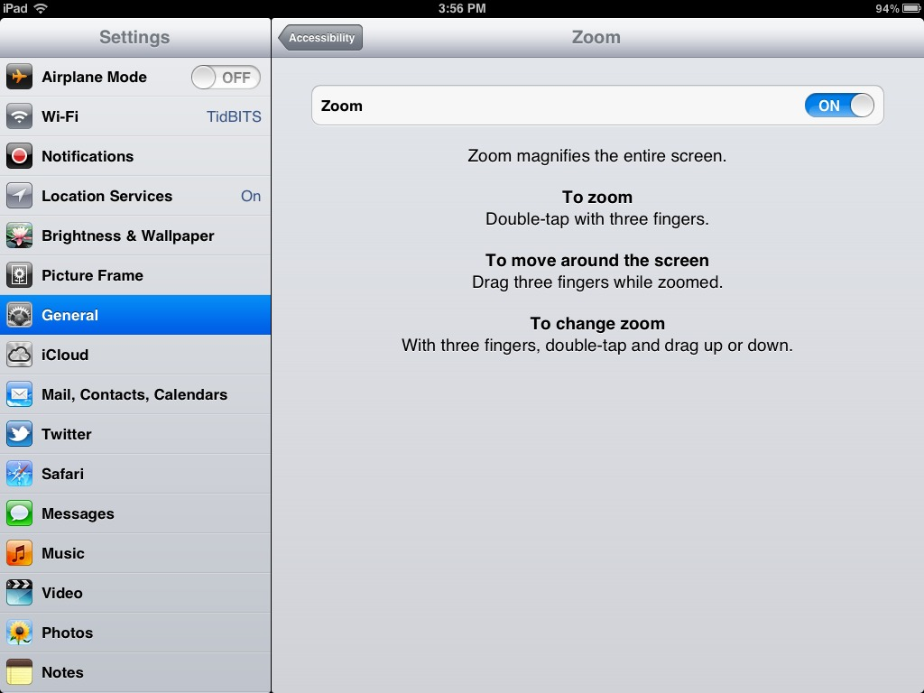 Beware Accidental Zooming in iOS (and Mac OS X) - TidBITS