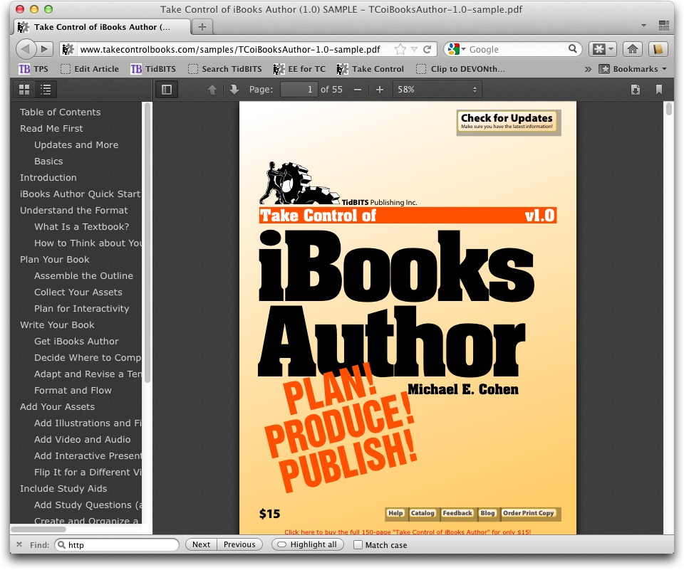 Wrangling PDFs in 2012's Web Browsers - TidBITS