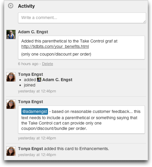 Trello Offers Compelling Collaboration Tool - TidBITS