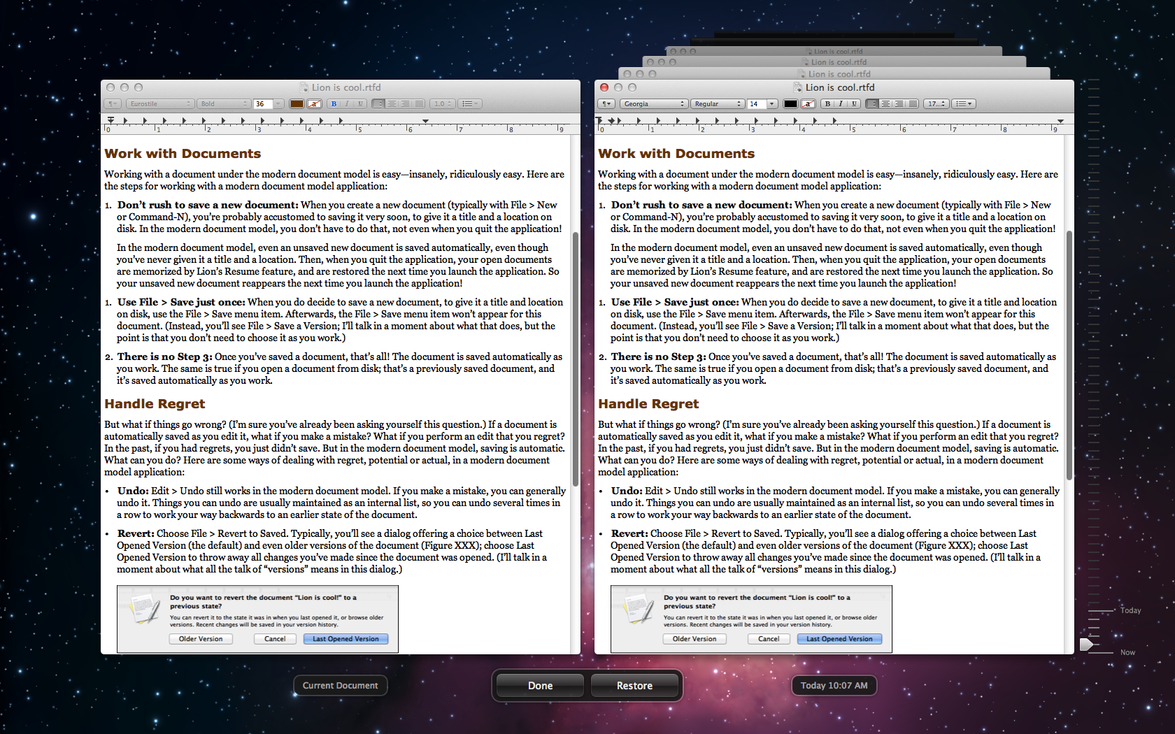The Very Model of a Modern Mountain Lion Document - TidBITS