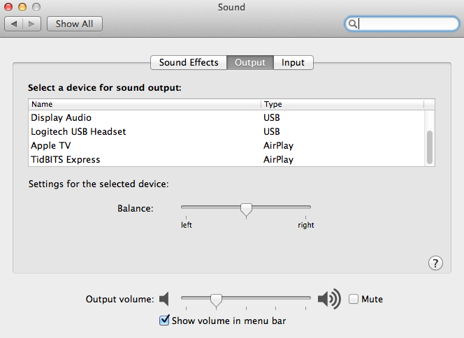 Playing with AirPlay in Mountain Lion - TidBITS