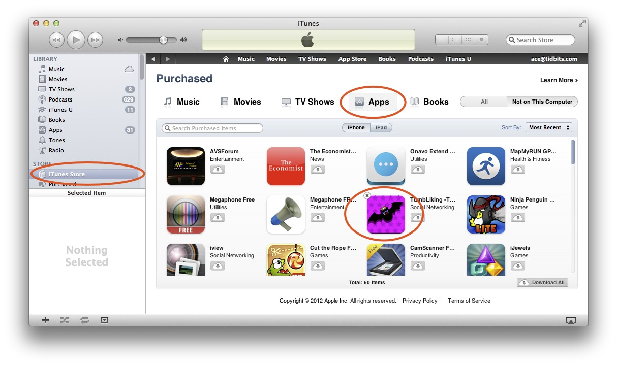 Delete iphone apps from itunes